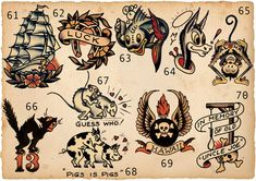 Tattoo traditional old school sailor jerry flash art 68 Super ideas Sailor Jerry Flash, Flash Art Tattoos, Dragon Tattoo Back Piece, Dragon Sleeve Tattoos, Traditional Ink, Traditional Tattoo Flash, American Traditional, Tattoo Studio, Vintage Tattoo Design