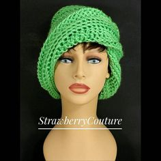 Crochet Hat Womens Hat Trendy Womens Crochet Hat Crochet Beanie Hat Limelight Green Hat African Hat OMBRETTA Beanie Hat Unique Gift by strawberrycouture by on Crochet Heart Blanket, Crochet Baby Cardigan, Crochet Beanie Hat, Crochet Hats, Crochet Cowl Free Pattern, Crochet Mandala Pattern, African Hats, Doll Shoe Patterns, Crochet Stitches For Beginners
