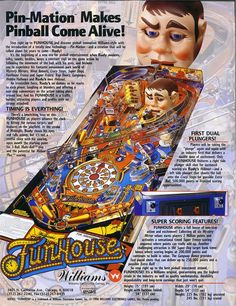 Funhouse Flyer, Back Pinball Wizard, Arcade Games, Stuff To Buy, Fun Time, Tilt, Game Room, Video Games, Archive, Website