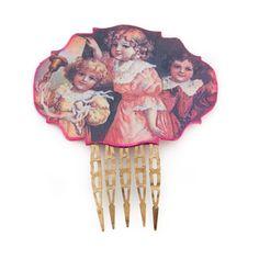 Pendientes y peina flamenca rosa