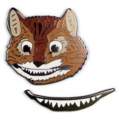 Unemployed Philosophers Guild Cheshire Cat and Smile Enamel Pin