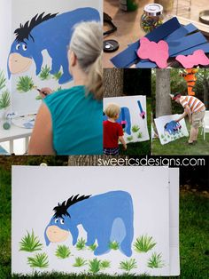 Pin the Tail on Eeyore!!  SOOO cute for a Winnie the Pooh party!