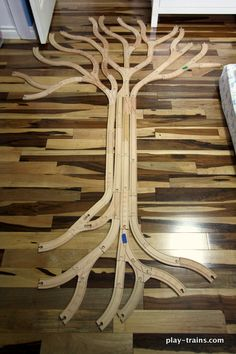 learn about trees with train tracks