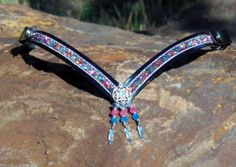 NEW V Snap-Add-On Sparkly Iridescent Blue Pinks halter bridle bling browband