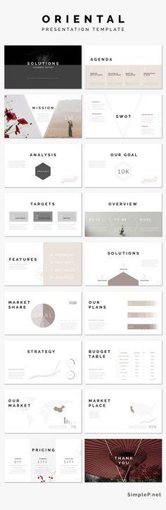 Simple Keynote Presentation Template #template #oriental #simple #minimal #solutions #chart #business #marketing