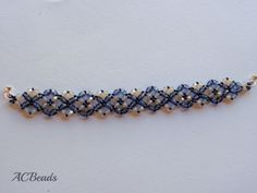My version of the Crossing Paths Beaded Bracelet by ALESHIA of Beadifulnights