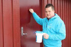 Aksjonsleder Morten Wien søker bøssebærere på sitt hjemsted Hadeland