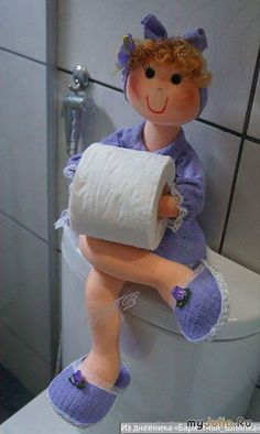 Очаровательная хранительница туалетной бумаги (с выкройками)