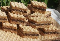 diana's cakes love: Napolitane cu crema de caramele si ciocolata