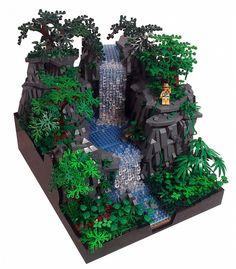 My Tropical Paradise - lego - Lego Moc, Lego Minecraft, Lego Lego, Lego Ninjago, Lego Modular, Rainforest Biome, Rainforest Project, Lego Design, Lego Batman