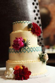 Cake idea again... simple and has a mexican feel :)