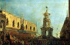 ГВАРДИ ФРАНЧЕСКО - Дож принимает участие в празднествах на Пьяццетта в Великий…