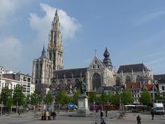 Groenplaats en Kathedraal