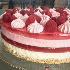 Frisk glutenfri ostekake med bringebærgele – Cake before cardio