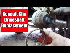 Renault Clio 1 2 16v 2004 Drive Shaft Replacement And ABS Reluctor Ring - YouTube Drive Shaft, Thalia, Abs, Ring, Youtube, Crunches, Rings, Abdominal Muscles, Jewelry Rings