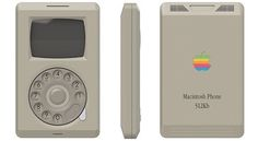 The Apple Macintosh Phone concept, an iPhone that could have been released in the Equipped by a rotary dial, inspired by Macintosh Apple computer… Steve Jobs, Iphone 5s, Apple Iphone, Apple Inc, Smartphone, Apple Macintosh, Iphone Original, Telefon Apple, Alter Computer