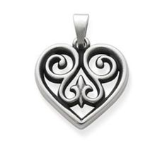 French heart charm