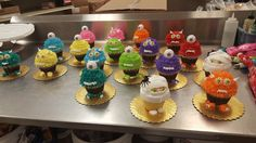 Jumbo Monster Cupcakes