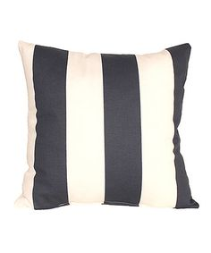 This Navy Beach Stripe Throw Pillow by RLF Home is perfect! #zulilyfinds