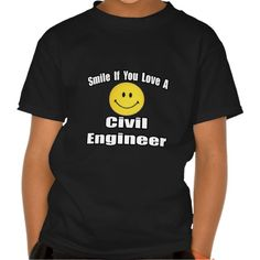 Smile If You Love A Civil Engineer Tee T Shirt, Hoodie Sweatshirt