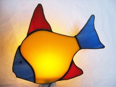 Colourful Fish Stained Glass Night Light by HeirloomsbyTesa