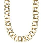 Betsey+Johnson+Necklace,+Textured+Round-Link+