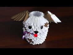 3d origami puppy - Google Search
