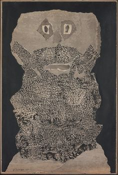 Visit untitledartblog.tumblr.com for more online art. Beard Garden - Jean Dubuffet