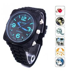 7ff4f3124012 Sound Activated HD 1080P Leather Belt Pinhole Spy Watch Camera DVR with  Sound recording