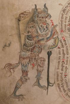 British Library, Add MS 47682, detail of f. 11v. Bible (the 'Holkham Bible Picture Book') c. 1327-1335