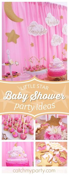 Take a look at this gorgeous winkle Little Star Baby shower! The cake is stunning!! See more party ideas and shareyours at CatchMyParty.com #babyshower #twinkletwinklelittlestar