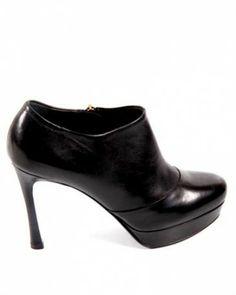 YSL Leather Heel Booties