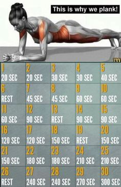 30 Day Plank Challenge: