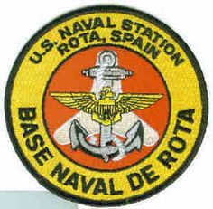 NAS Naval Air Station ROTA SPAIN AIR STATION USN NAVY SQUADRON BASE PATCH