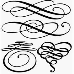 Resultado de imagen para squiggly lines clip art Flourish Calligraphy, Copperplate Calligraphy, Calligraphy Letters, Penmanship, Letras Tattoo, Stencils, Schrift Tattoos, Silhouette Projects, Silhouette Cameo