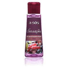Gel A sós Sensações Comestível Hot Sabor Uva - 50g Mais Sexy Itanhaém+produtos sensuais+eróticos+Sex Shop+Litoral