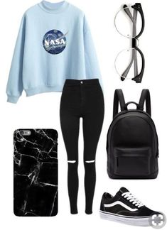 Cute,nerdy outfit You are in the right place about teenager outfits dressy H Cute Middle School Outfits, Casual School Outfits, Cute Comfy Outfits, Cute Casual Outfits, Stylish Outfits, Back To School Outfits Highschool, Winter Outfits For School, Casual Jeans, Summer Outfits