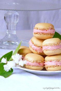 Hazelnut Raspberry Macarons