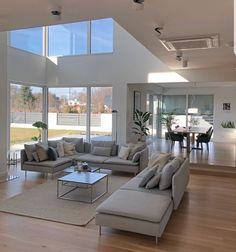 Scandinave home . Home Room Design, Dream Home Design, Modern House Design, Home Interior Design, Living Room Designs, Interior Architecture, Dream House Interior, Luxury Homes Dream Houses, Dream Rooms
