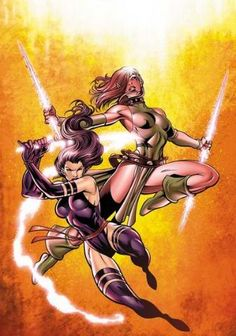 Psylocke and Blink by Paul Pelletier