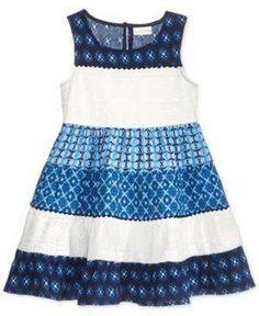 ccfc766a1c09 Sweet Heart Rose Toddler & Little Girls Lace Mixed-print Dress Size 6 #