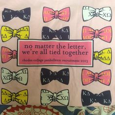 """""""No matter the letter, we're all tied together."""""""