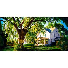 Trademark Art Farm House Canvas Wall Art by Roderick Stevens, Size: 16 x 32, Multicolor