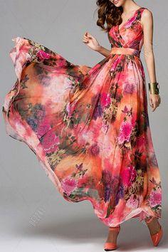 Eavnos Red Boho Print Layered Maxi Dress | Maxi Dresses at DEZZAL Wholesale Boho Dress https://bohemian-gift-stores.com/collections/bohemian-dresses
