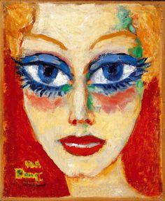 Kees van Dongen「Woman with Blue Eyes」(1908)
