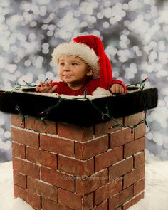Christmas photo prop Chimney prop - Great for ALL ages with adjustable inside. $90.00, via Etsy.