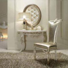Adding a shimmer & shine to old furniture can add a glamorous element to a room!