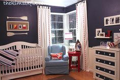 The Kim Six Fix: Baby's Nautical Bedroom (good ideas and not just for a nursery/child's room)@Jade Alvarez Alvarez Gordon