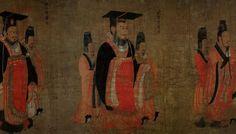 2 фрагмент  Гуан У-ди (光武帝 5—57нэ). Первый император поздней династии Хань.  Дальний потомок императора, рос и воспитывался как сирота. детские годы провел в нужде. Вырос и достиг власти, став военачальником против узурпатора в западной Хань. Согласно официальной истории, он был открытый, трудолюбивый, и подверженный конфуцианству человек.