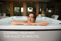 How to clean your hot tub in only 30 minutes a month. #outdoorliving #hottubs  http://www.bullfrogspas.com/blog/how-to-clean-a-hot-tub-30-minutes/